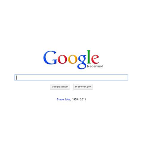 Google's eerbetoon aan Steve Jobs