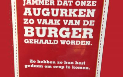 De augurken van Burger King