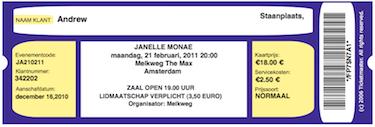 Janelle Monae Live @ Melkweg Amsterdam 21 februari 2011