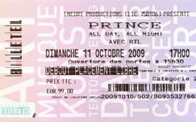 Prince Live in Parijs 11 oktober 2009
