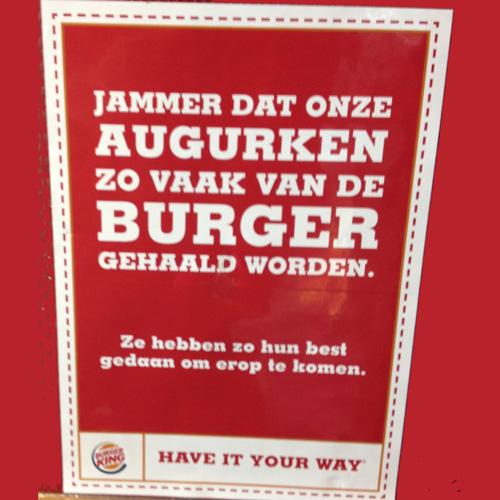 De augurken van Burger King